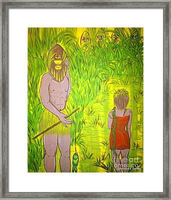 Honey I Am Home Framed Print by Adriana Garces