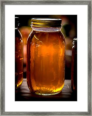 Honey Jar Framed Print