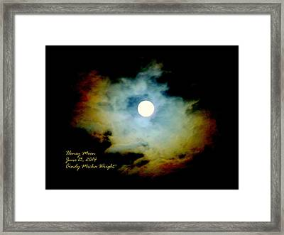 Honey Moon Framed Print by Cindy Wright