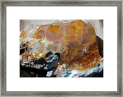 Honey Opal Framed Print