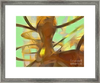 Honey Pastel Abstract Framed Print by Alexander Butler