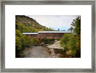 Honey Run Covered Bridge Framed Print