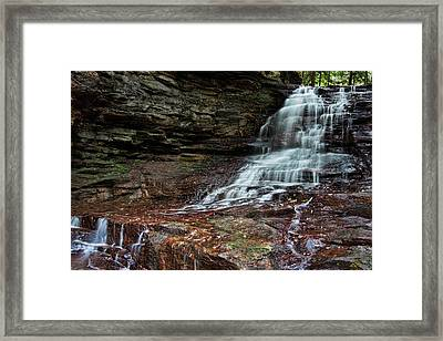 Honey Run Falls Framed Print