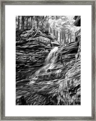 Honey Run Waterfall Framed Print by Brian Mollenkopf