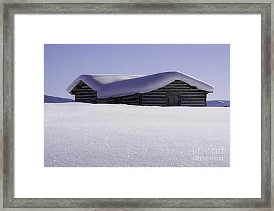 Honey Where Is The Snow Shovel? Framed Print
