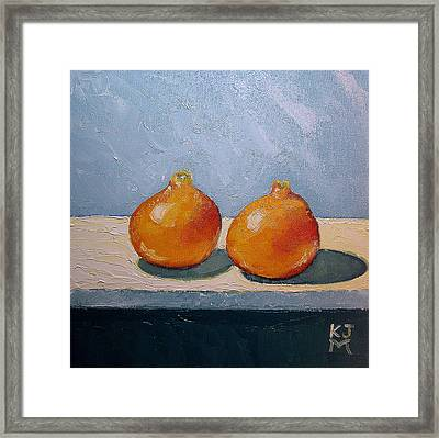 Honeybells - The Perfect Couple Framed Print by Katherine Miller