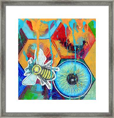 Honeycomb Bee Framed Print