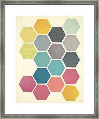 Honeycomb II Framed Print by Cassia Beck