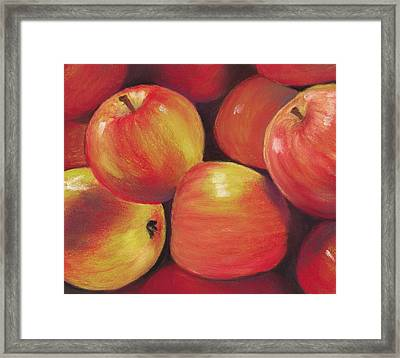 Honeycrisp Apples Framed Print by Anastasiya Malakhova
