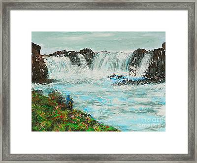Honeymoon At Godafoss Framed Print