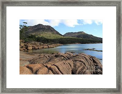 Honeymoon Bay Tasmania All Profits Go To Hospice Of The Calumet Area Framed Print