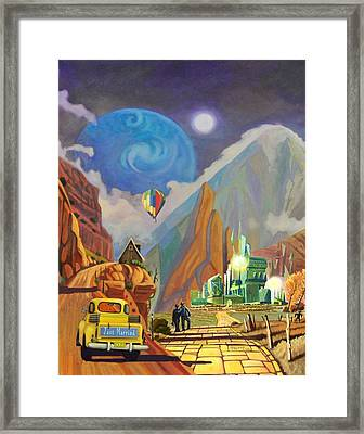 Honeymoon In Oz Framed Print