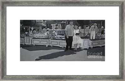 Honeymoon On Main St. Framed Print