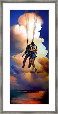 Honeymoon Over Zagreb Framed Print by Geoff Greene