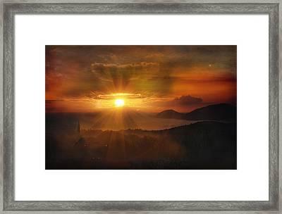 Honeymoon Sunset Framed Print