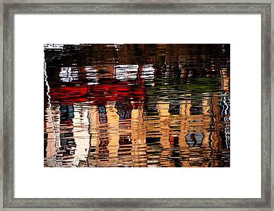 Honfleur Abstract Framed Print by Jacqueline M Lewis