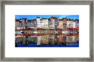 Framed Print featuring the photograph Long Horizontal Abstract - Honfleur Artists Village  by Jacqueline M Lewis