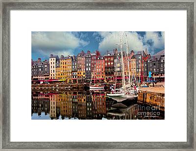 Honfleur Harbor Framed Print