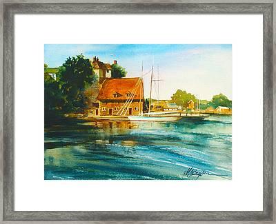 Honfleur Harbor Framed Print