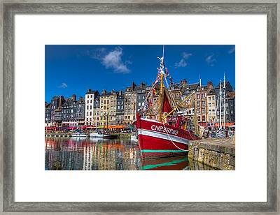Framed Print featuring the photograph Honfleur Normandy by Tim Stanley