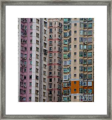 Framed Print featuring the photograph Hong Kong Buildings  by Sarah Mullin