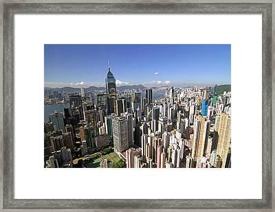 Hong Kong Causeway Bay Framed Print by Lars Ruecker