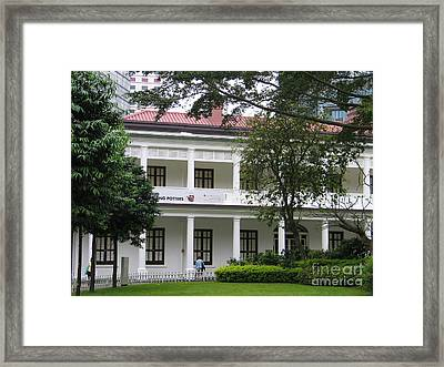 Framed Print featuring the photograph Hong Kong Flagstaff House by Art Photography