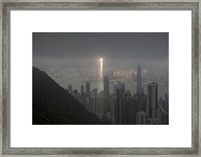 Hong Kong From Victoria Peak Framed Print by Pavel Kiselev