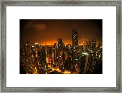 Hong Kong Gotham Framed Print by Peter Thoeny