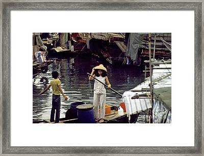 Hong Kong Harbor Framed Print by Scott Shaw