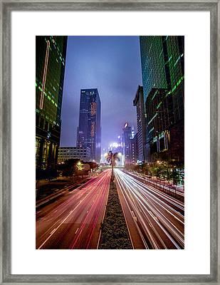 Framed Print featuring the photograph Hong Kong Highway by Robert  Aycock