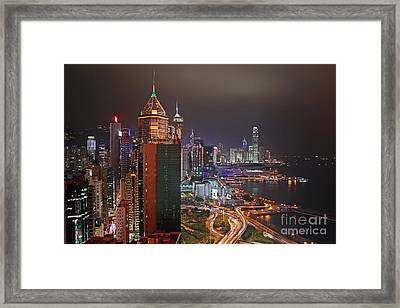 Hong Kong Island Framed Print by Lars Ruecker