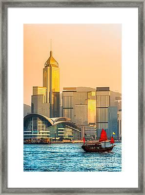Hong Kong. Framed Print by Luciano Mortula