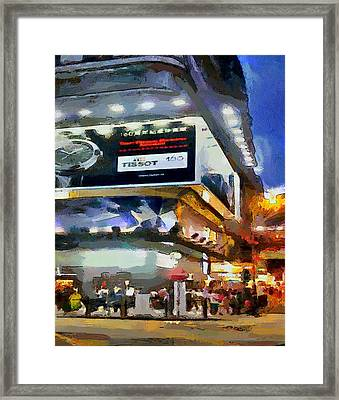 Hong Kong Night Lights 1 Framed Print by Yury Malkov