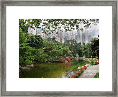 Framed Print featuring the photograph Hong Kong Park by Art Photography