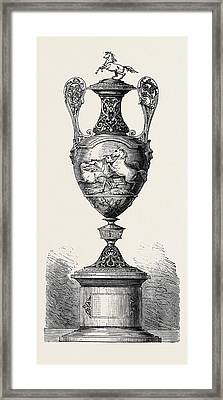 Hong Kong Races The Barristers Cup 1861 Framed Print by English School
