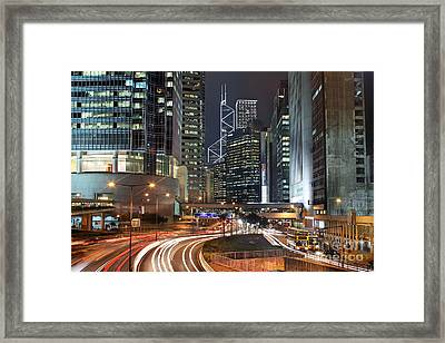Hong Kong Rush Hour Framed Print by Lars Ruecker