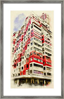 Hong Kong Streets 4 Framed Print