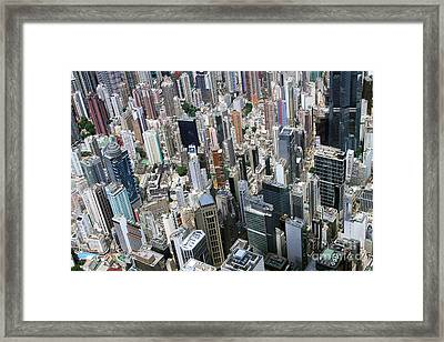 Hong Kong's Density Framed Print by Lars Ruecker