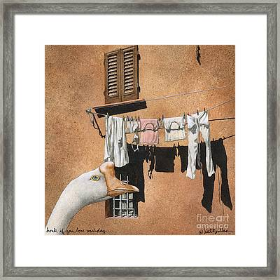 Honk If You Love Wash Day... Framed Print by Will Bullas