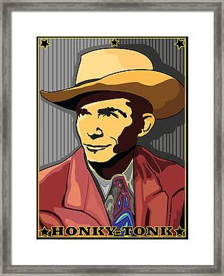Honky Tonk Hank Williams Framed Print by Larry Butterworth