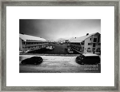 Honningsvag Harbour Finnmark Norway Europe Framed Print by Joe Fox