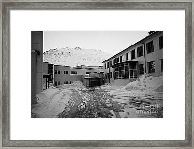 Honningsvag Primary School And Library Finnmark Norway Europe Framed Print by Joe Fox