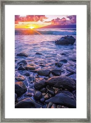 Honolua Sunset Framed Print by Hawaii  Fine Art Photography