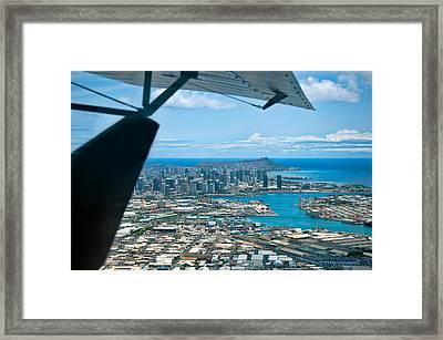 Honolulu And Diamond Head Framed Print by Dan McManus