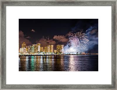 Honolulu Fireworks 1 Framed Print