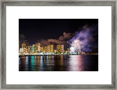 Honolulu Fireworks 4 Framed Print
