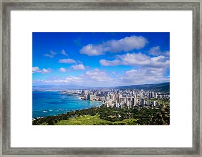 Honolulu Hawaii Framed Print by Richard Brown
