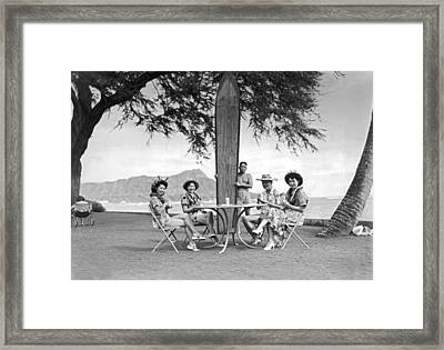Honolulu In 1930 Framed Print