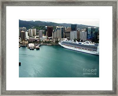 Framed Print featuring the photograph Honolulu Port by Brigitte Emme